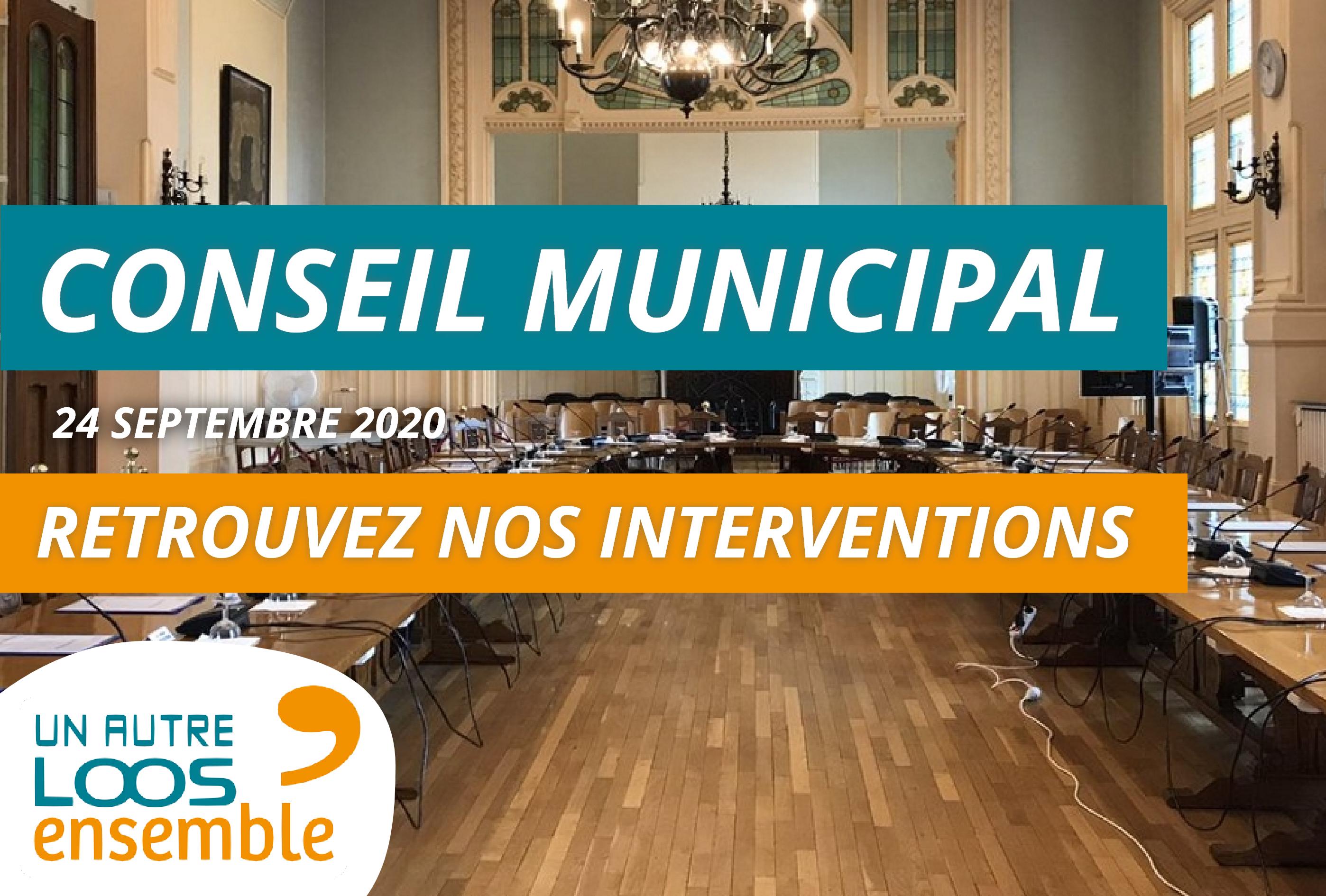 #CM du 24/09/2020 : nos interventions